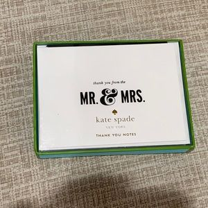 Mr & Mrs thank you notes